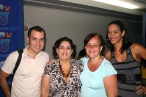 James Lynn, Mayra Soto, Jeanette Delgado y Joannix Ochart.