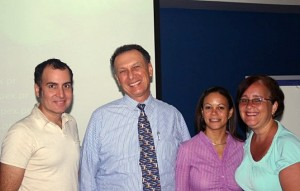 James Lynn, Mario Vecchi, Damaris Velazquez y Jeanette Delgado