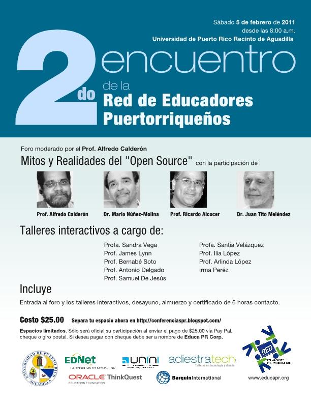 Flyer del 2do Encuentro de la Red de Educadores Puertorriqueños