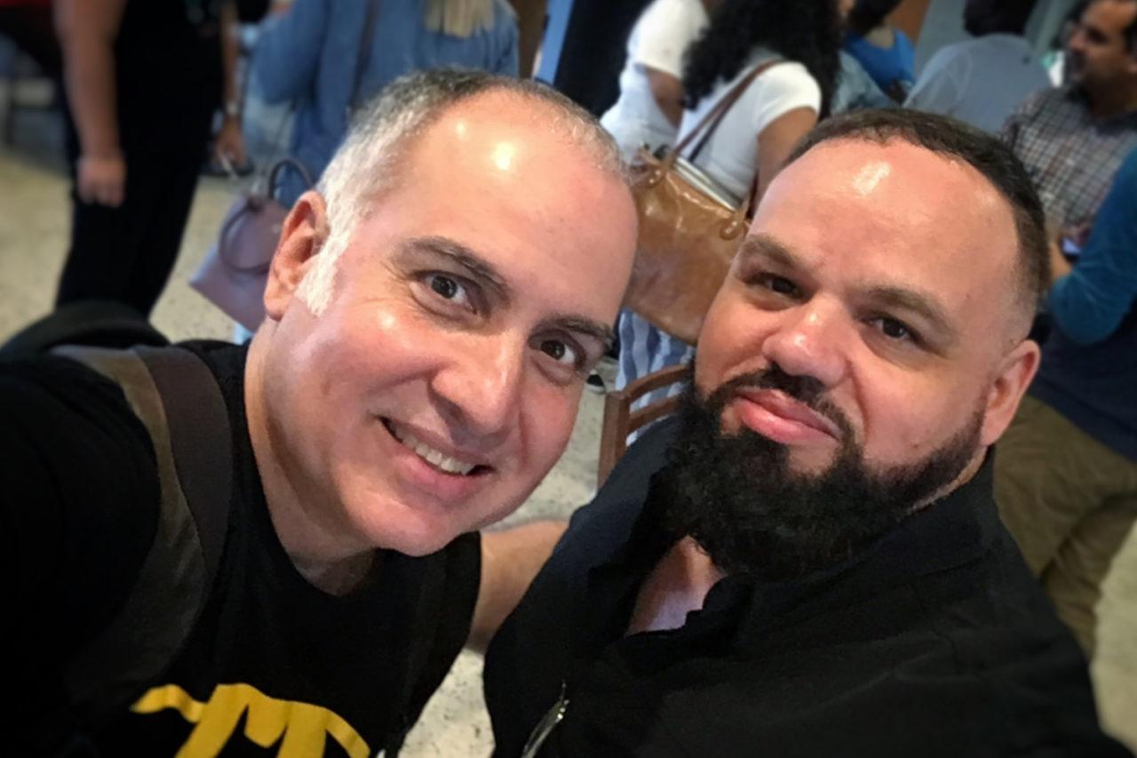 James Lyn y Nol Tosado en el tercet encuentro de podcasters de Puerto Rico.
